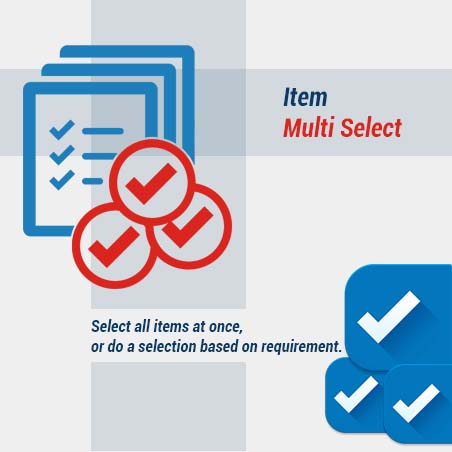 New Features Item Multi Select Software
