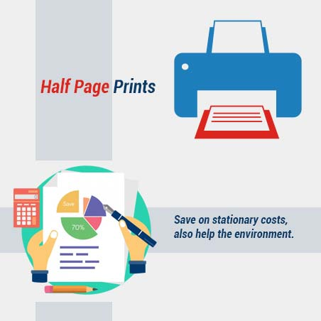 Feature Of Half Page Prints Accounting Software